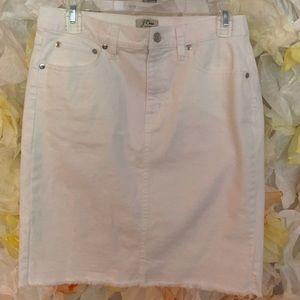 Jcrew white denim skirt